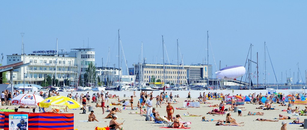 Stranden i Gdynias centrum. Resa till Sopot, Gdansk och Gdynia – Hit The Road Travel
