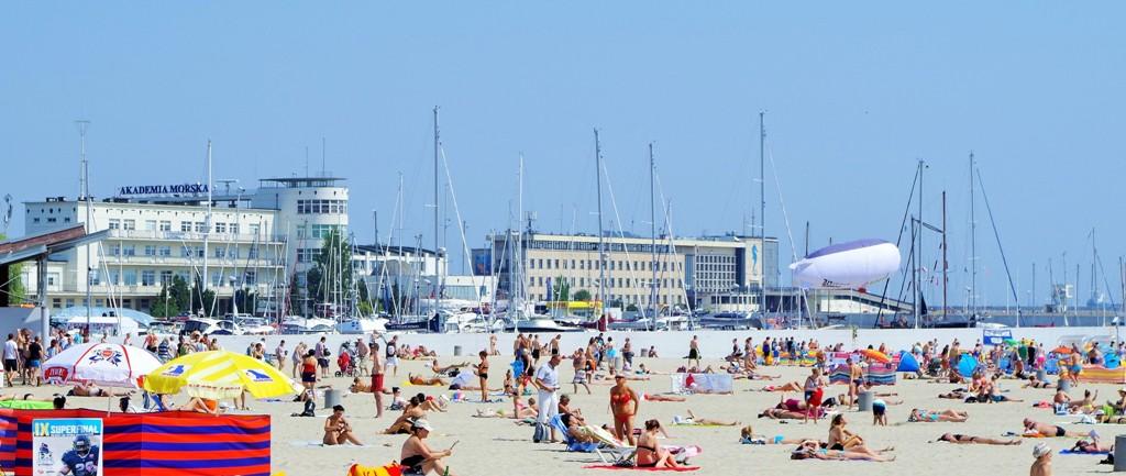 Stranden i Gdynias centrum. Resa till Sopot, Gdansk och Gdynia – Hit The Road Travel