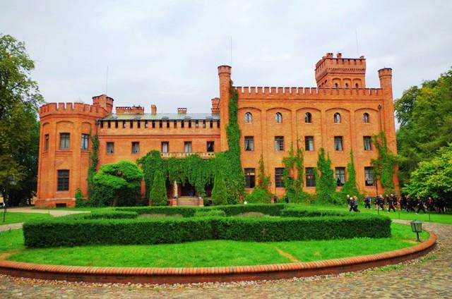 1800-talets slott i Rzucewo