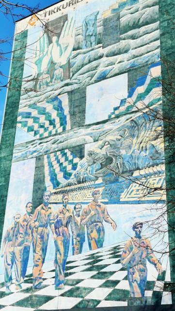Donatas Pirstelis, Väggmålning för Gdansks tusen års jubileum