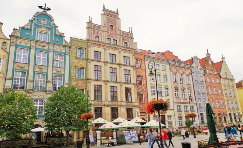 Gdansk - Långa Torget, södra sidan. Polenresor – Hit The Road Travel