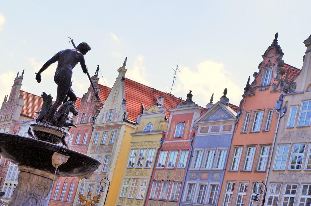 Neptunusfontänen i Gdansk. Gdansk guidad tur, Gdansk guide – Hit The Road Travel