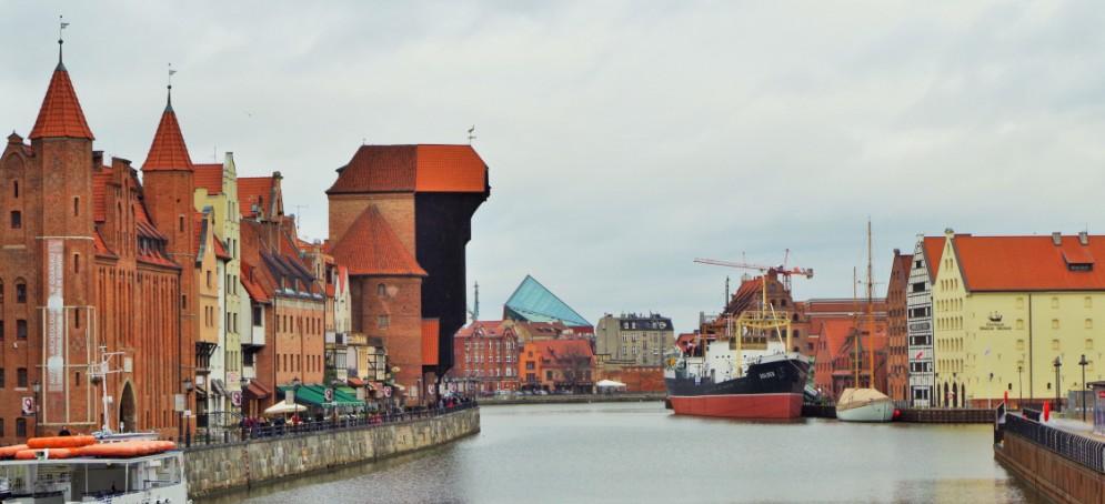 Gdansk - Långa Kajen längs floden Motlawa