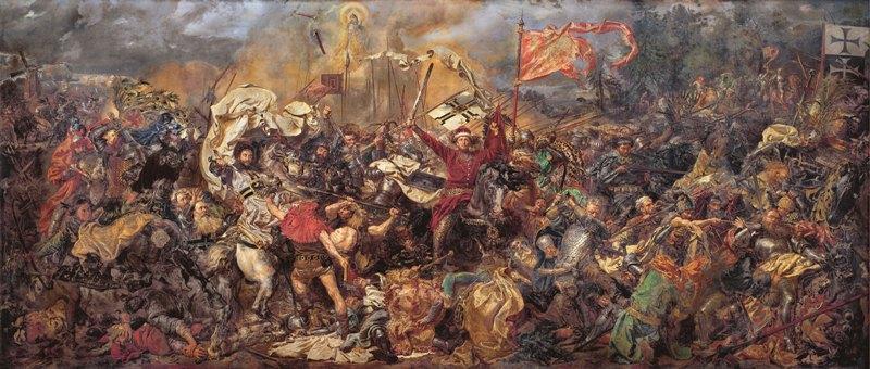 """""""Slaget vid Grunwald"""" av Jan Matejko"""