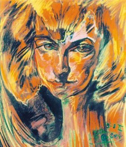 Fru Zukotynska porträtterad av Stanislaw Ignacy Witkiewicz (Witkacy)