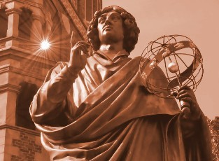 Statyn över Copernicus i Torun
