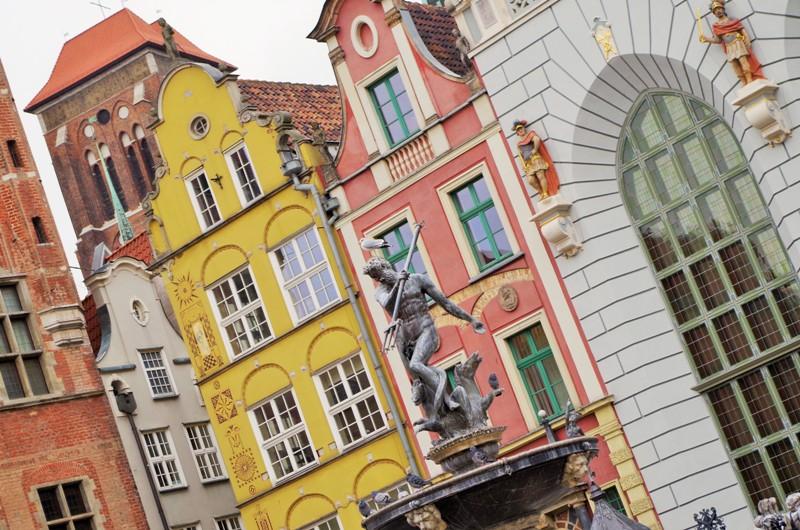 Färgglada fasader i Gdansk
